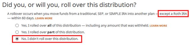 Como relatar Roth backdoor em software tributário H&R Block: um passo a passo 8