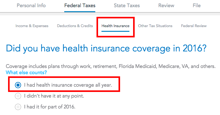 Tax Filing For Self-Employed Health Insurance Through ACA