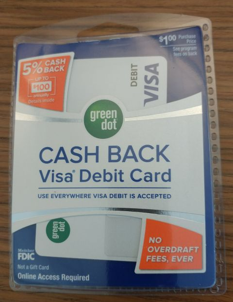 cards issued by green dot bank member fdic pursuant to a license from visa usa inc - Visa Money Card