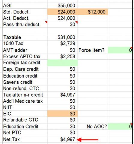 2018 tax calculator with aca obamacare health insurance subsidy. Black Bedroom Furniture Sets. Home Design Ideas