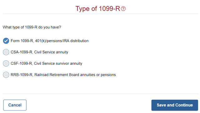 Click On Yes When It Asks You About The 1099 R
