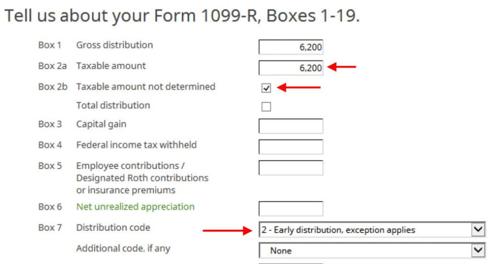 Como relatar Roth backdoor em software tributário H&R Block: um passo a passo 5