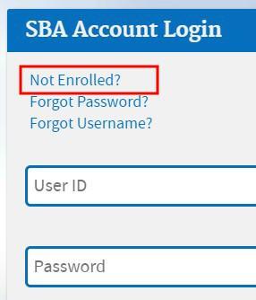 register SBA account