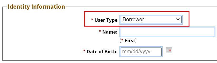 User Type field