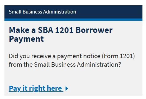 SBA loan payment flow
