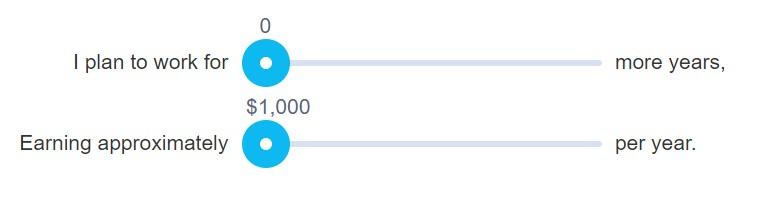 Veja sua estimativa de benefícios de previdência social em um gráfico interativo 1