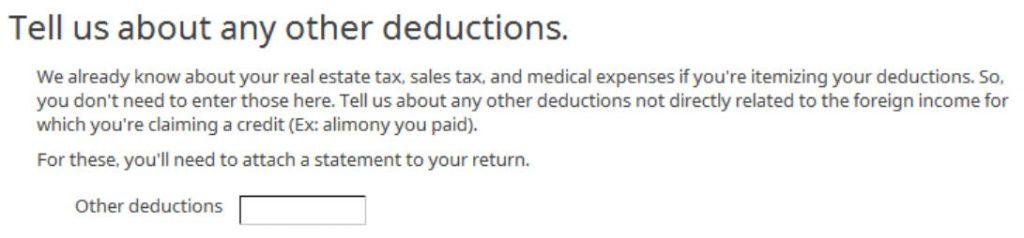 Crédito de imposto estrangeiro com formulário 1116 no software TurboTax e H&R Block 21