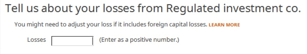 Crédito de imposto estrangeiro com formulário 1116 no software TurboTax e H&R Block 23