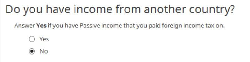 Crédito de imposto estrangeiro com formulário 1116 no software TurboTax e H&R Block 26