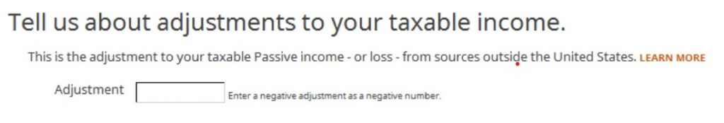 Crédito de imposto estrangeiro com formulário 1116 no software TurboTax e H&R Block 30
