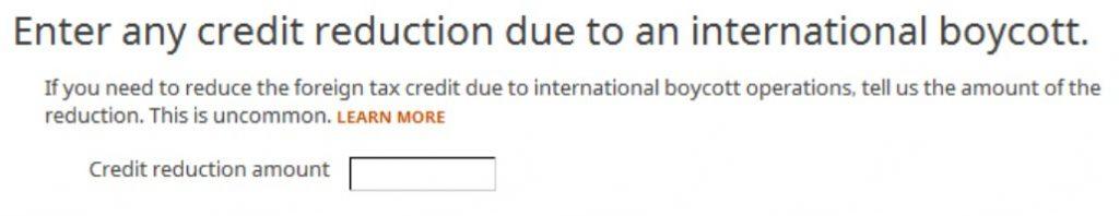 Crédito de imposto estrangeiro com formulário 1116 no software TurboTax e H&R Block 31