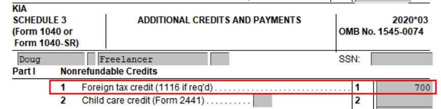 Crédito de imposto estrangeiro com formulário 1116 no software TurboTax e H&R Block 34