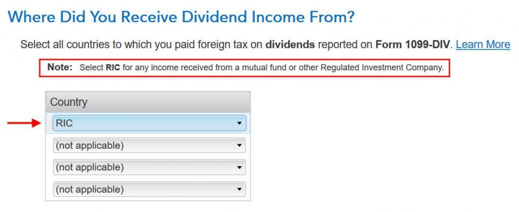 Crédito de imposto estrangeiro com formulário 1116 no software TurboTax e H&R Block 4